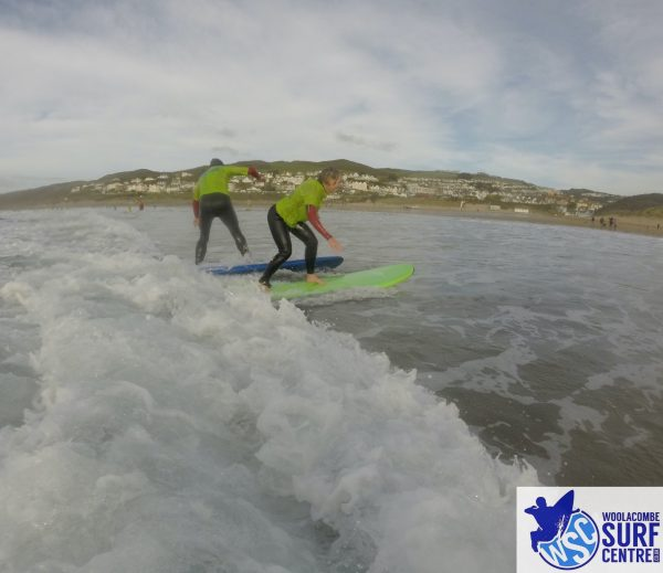 Surf lesson with Woolacombe Surf Centre, surf school