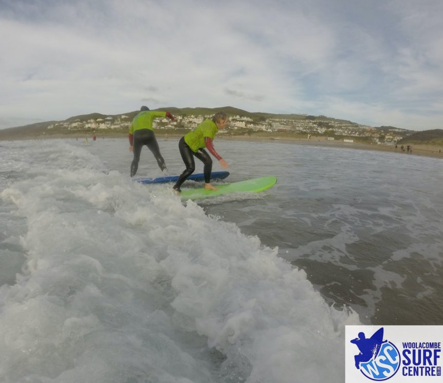 Private surf lessons one to two ratio, Woolacombe Surf Centre, learn to surf surf lessons with the best Woolacombe Surf Centre