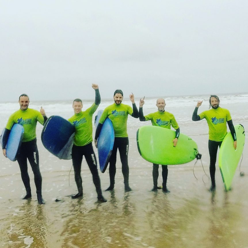 Stag party ideas? Come surfing with Woolacombe Surf Centre, learn to surf