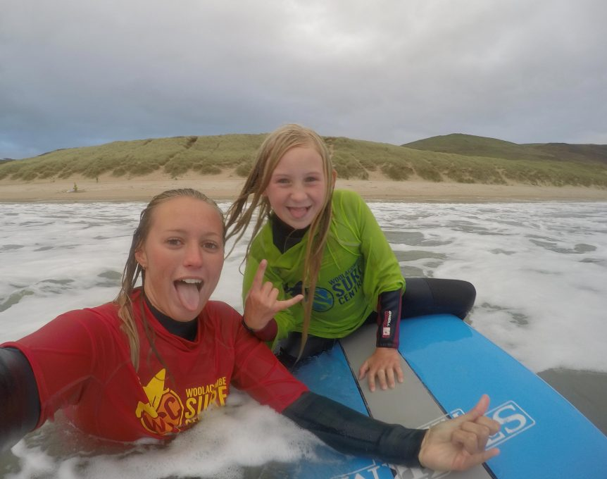 Female surfers, female surf coaches, Woolacombe Surf Centre