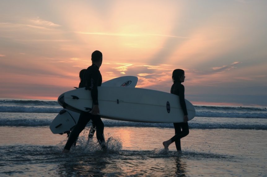 Summer sunset surf session with Woolacombe Surf Centre, learning to surf with the best