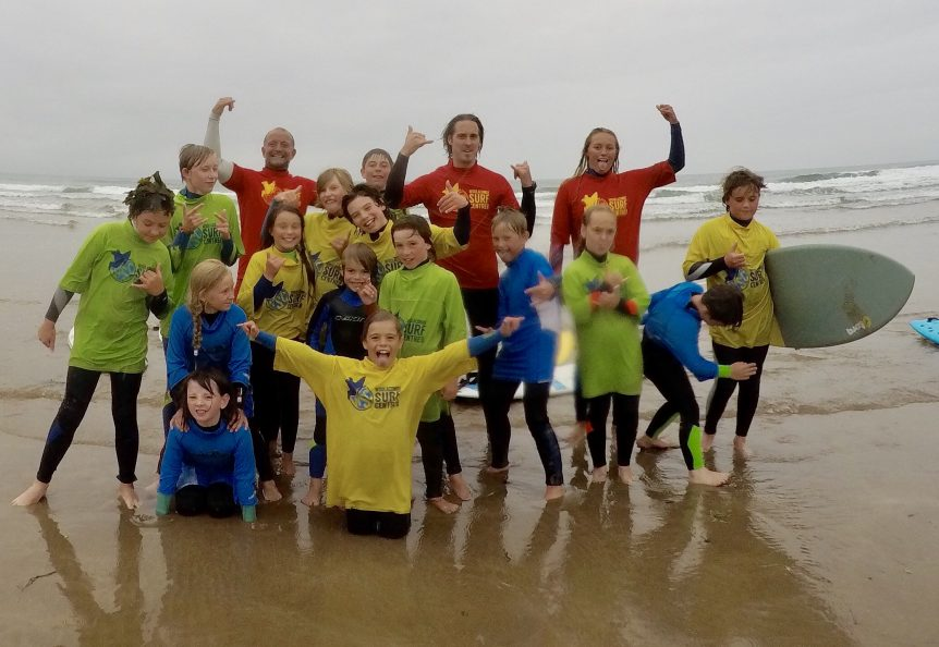 Woolacombe Surf Centre Grom Squad kids surf, children's surf lessons