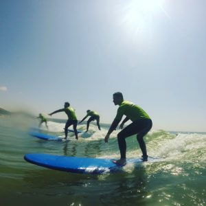 First lesson success, learning to surf with Woolacombe Surf Centre, best surf school in Woolacombe