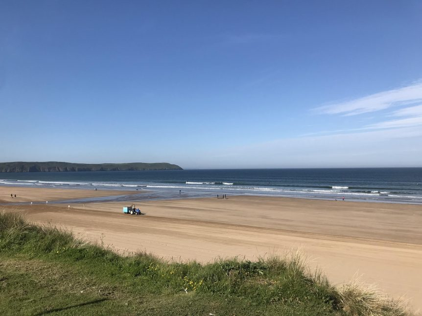 Stunning golden sands at Woolacombe Bay, Woolacombe Beach