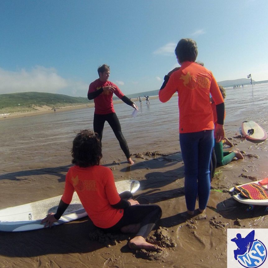 Woolacombe Surf Centre surf lesson on the beautiful Woolacombe beach, intermediate/ advanced coaching session