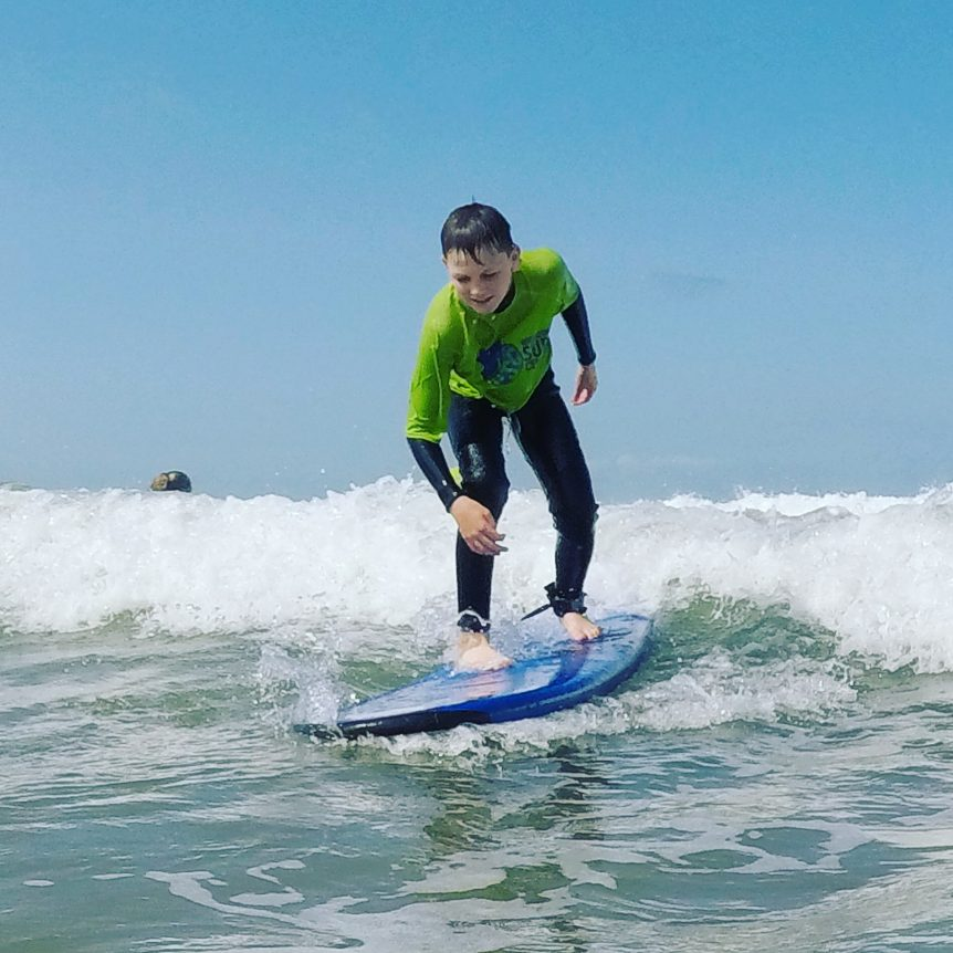 surf course, beginner with Woolacombe Surf Centre